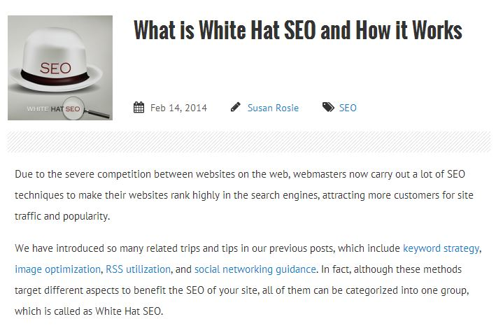 what is white hat seo and how it works