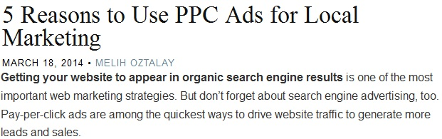 5 reasons to use ppc ads for local marketing