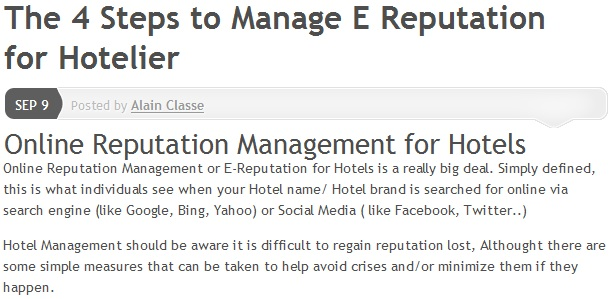 the 4 steps to manage e reputation for hotelier