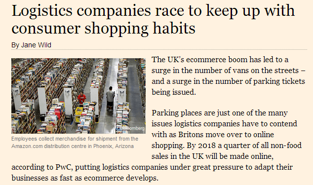 logistics companies race to keep up with consumer shopping habits