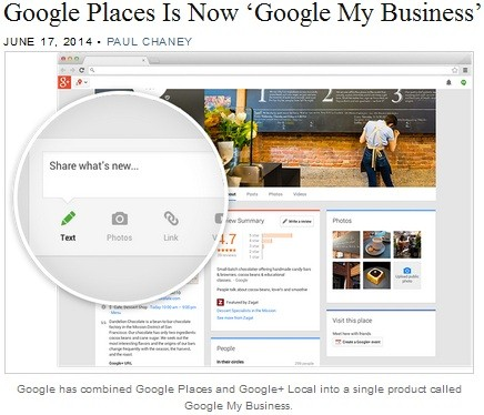 google places is now google my business
