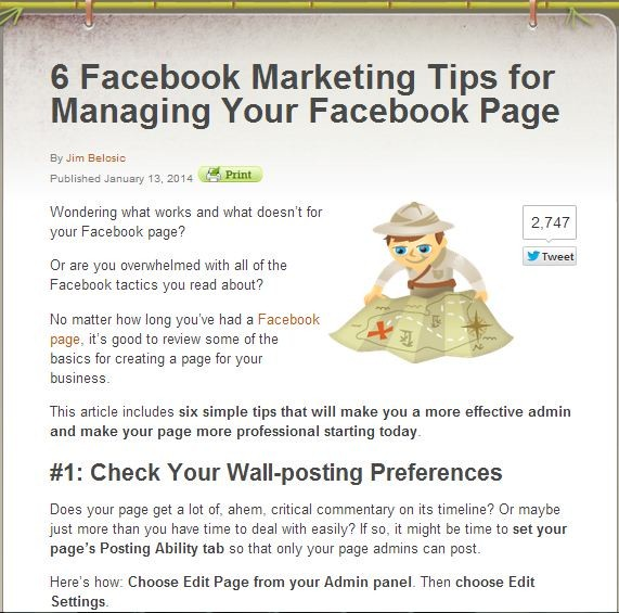 6 facebook marketing tips
