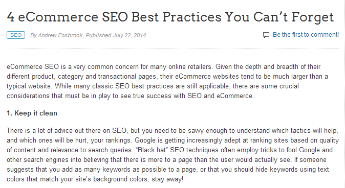 4 ecommerce seo best practices you cant forget