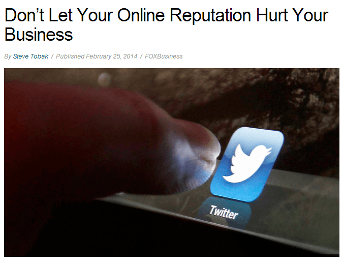 dont let your online reputation hurt your business