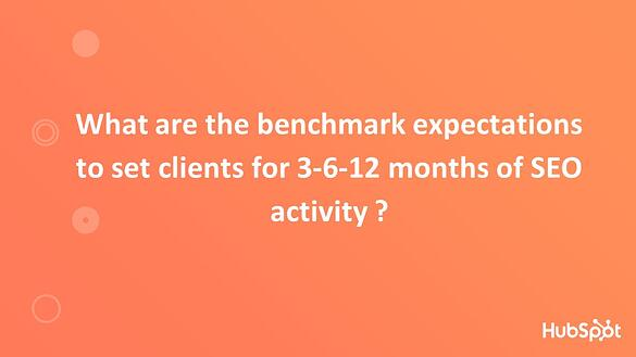 Benchmark Expectations to Set for Clients
