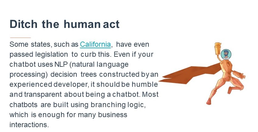 Chatbot Ditch Human Act