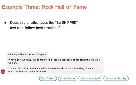 Chatbot Rock Hall of Fame