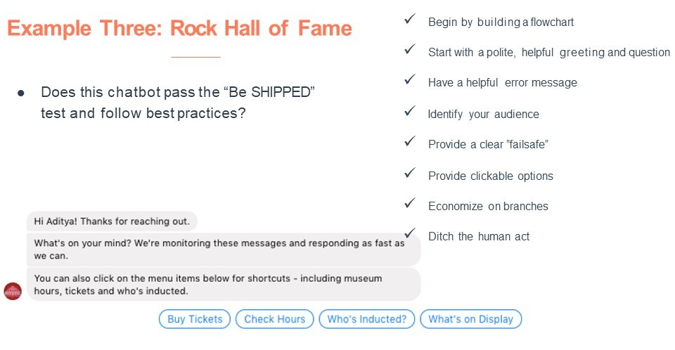 Chatbot Rock Hall of Fame Be SHIPPED