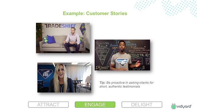 Customer Stories at the engage stage