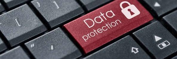 Data protection key on keyboard