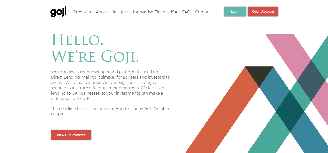 Goji Investments   Simplified Direct Lending Investment Management Platform