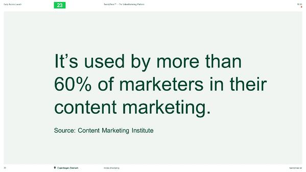 HUG ldn event - 60% of video is used for content marketing
