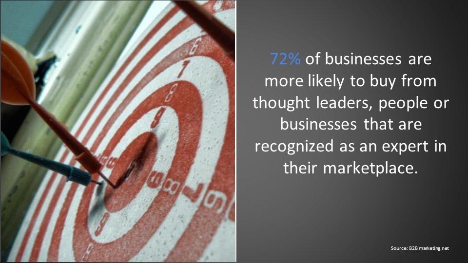 72 if businesses likely to buy from thought leaders or businesses that are expert in marketplace