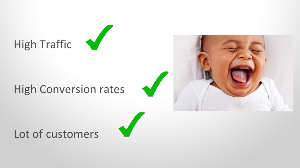 High traffic high conversion rates