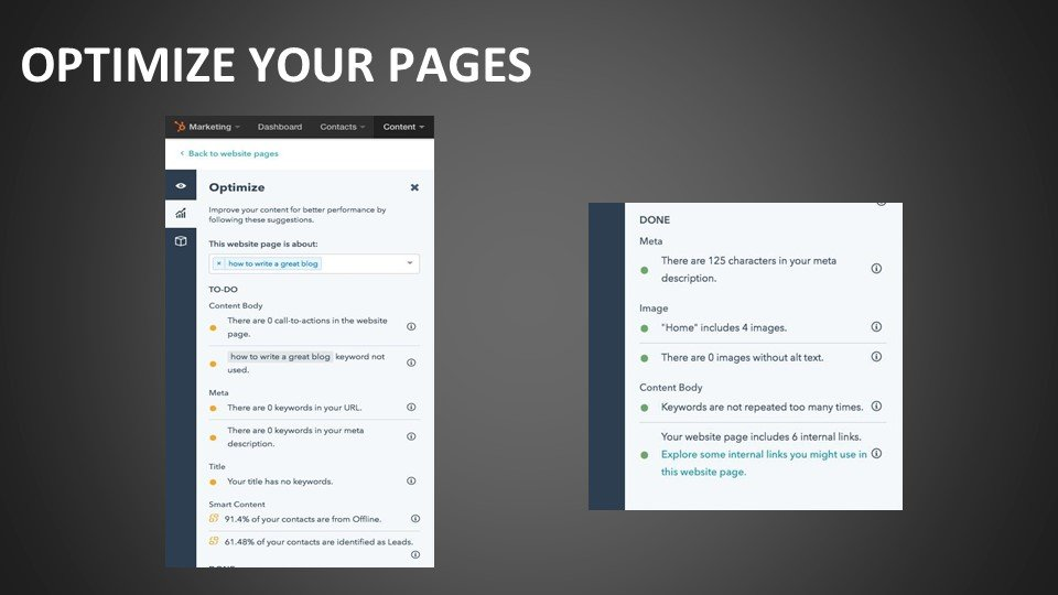 Optimize your pages