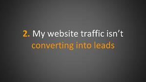 Converting Website Traffic Into Leads