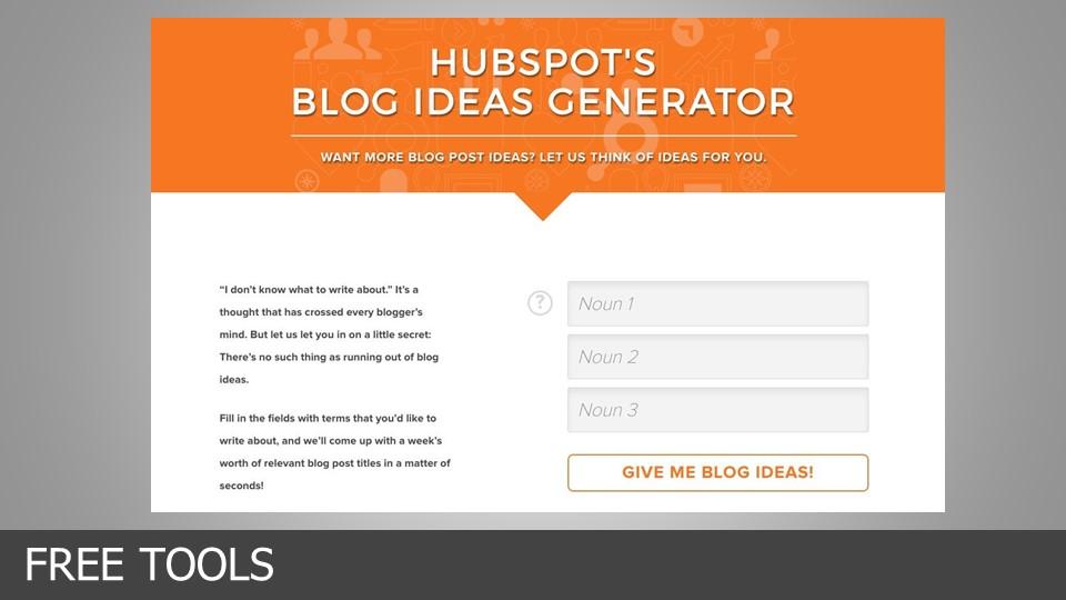 hubspot blog ideas generator