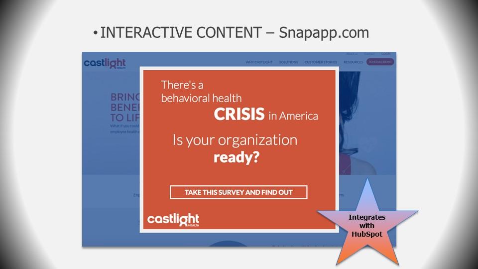 interactive content_snapapp