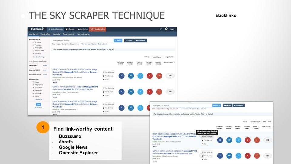 skyscrapper technique_find link-worthy content