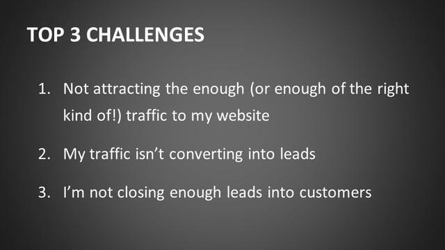 Top 3 Challenges in Marketing