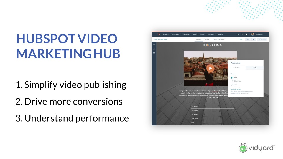 HubSpot video marketing hub