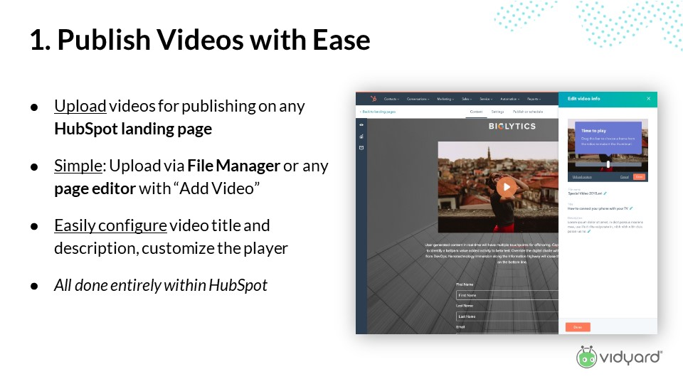 An easy way to publish video