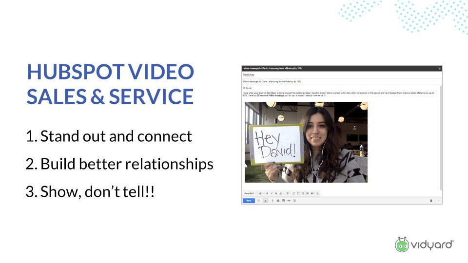 HubSpot video for sales and service
