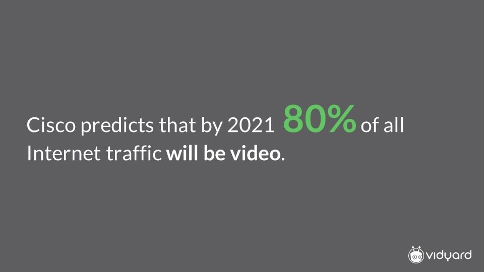 Cisco prediction on video uptake by 2021