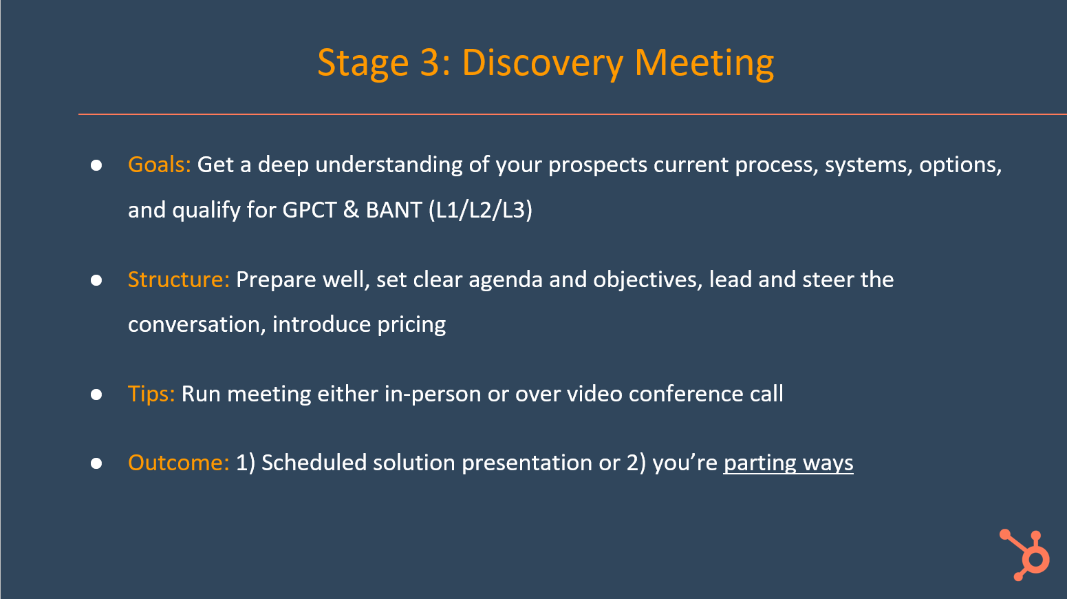 The Discovery Meeting