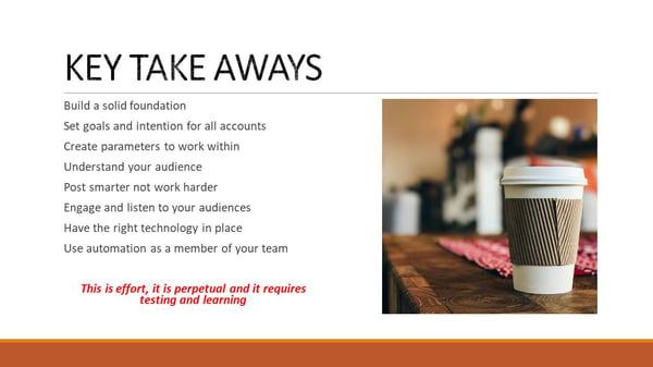 Ketan Mistry - Key Take Aways to help your social media strategy