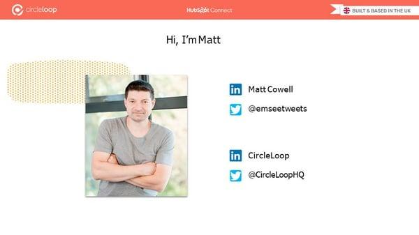 Matt Cowell - Introduction