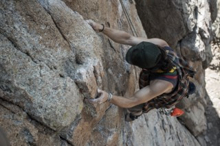 Marketing manager climbing