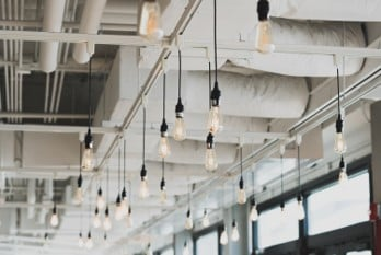 Light bulb inspiration for content creation ideas