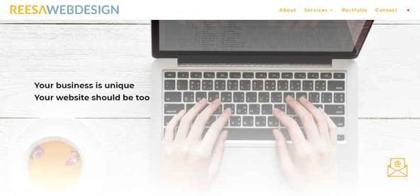 Reesa Web Design Small Business Website Design