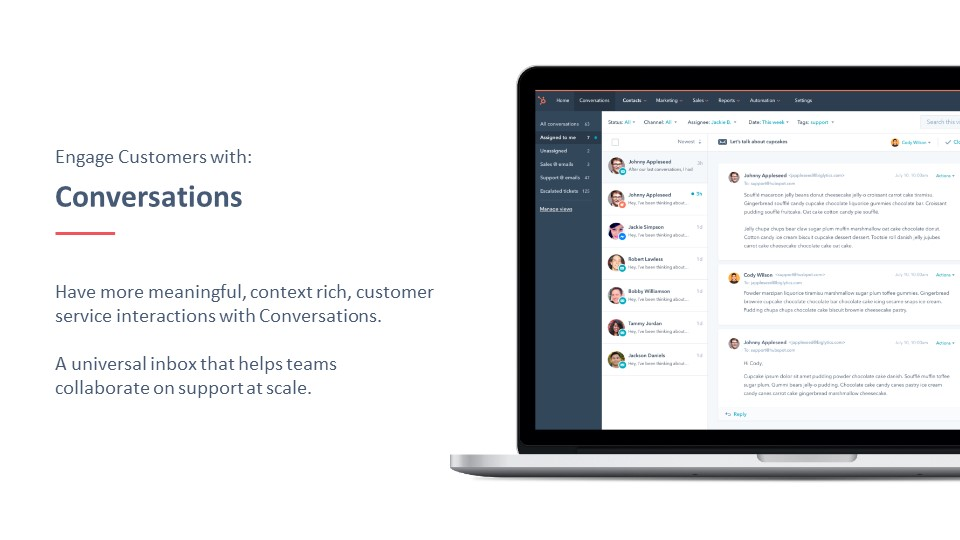 HubSpot conversation tool
