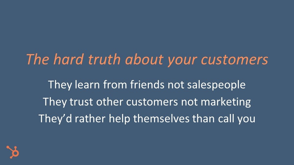 Customers don't trust sales people