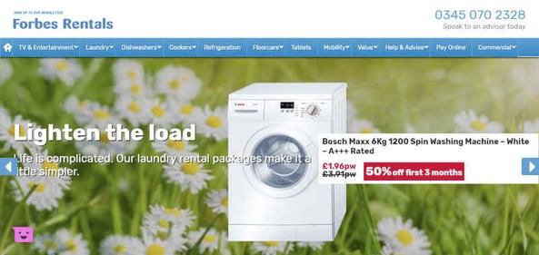 Smart TV rental Washing Machine