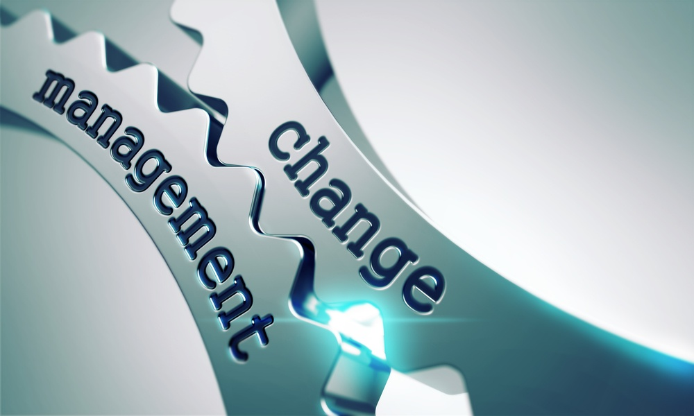 Change Management Concept on the Mechanism of Shiny Metal Gears.