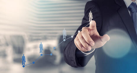 How to use Ad targeting businessman hand working with new modern computer and business strategy