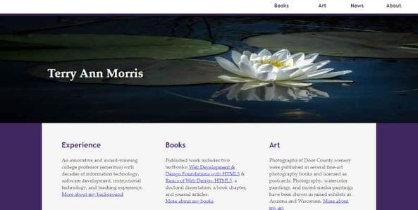Terry Ann Morris Website