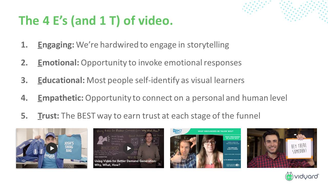 The 4 Es and 1 T stages of content creation