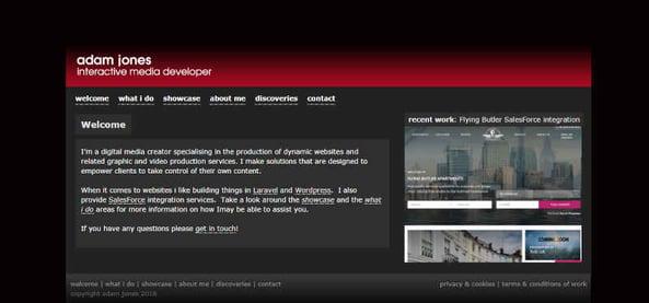Welcome Adam makes websites