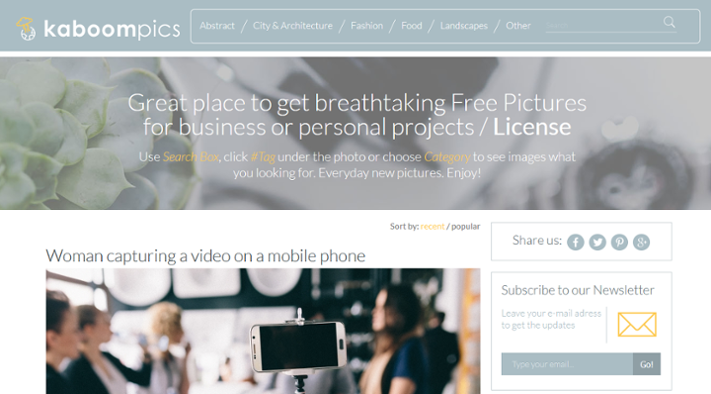 Free images for inbound marketing at kaboompics