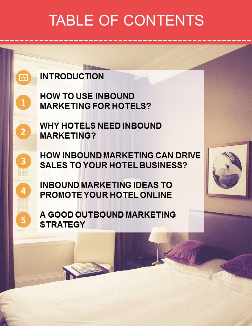 Table of content Inbound marketing for Hotels