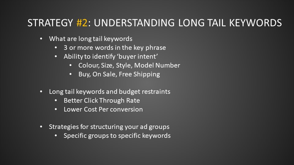 Strategy #2 Understanding Long-Tail Keywords