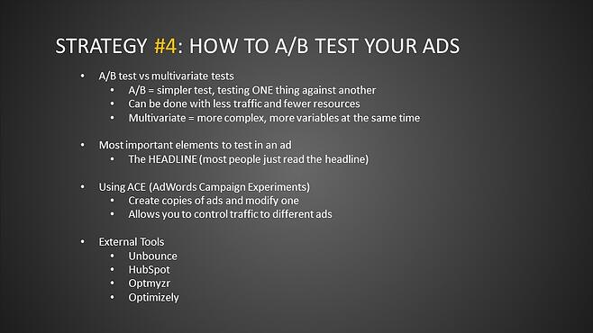Strategy #4: How to A/B Test Your Ads