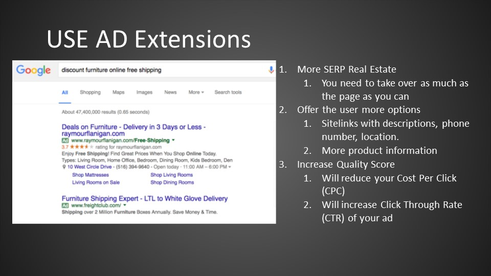 Using Ad Extensions