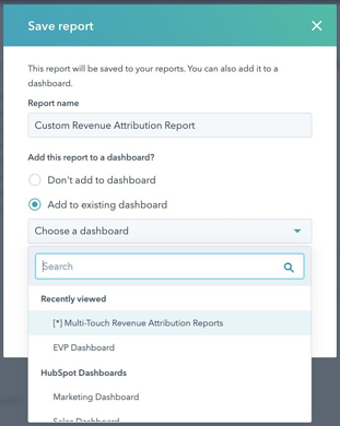 Attribution Reporting Save Report