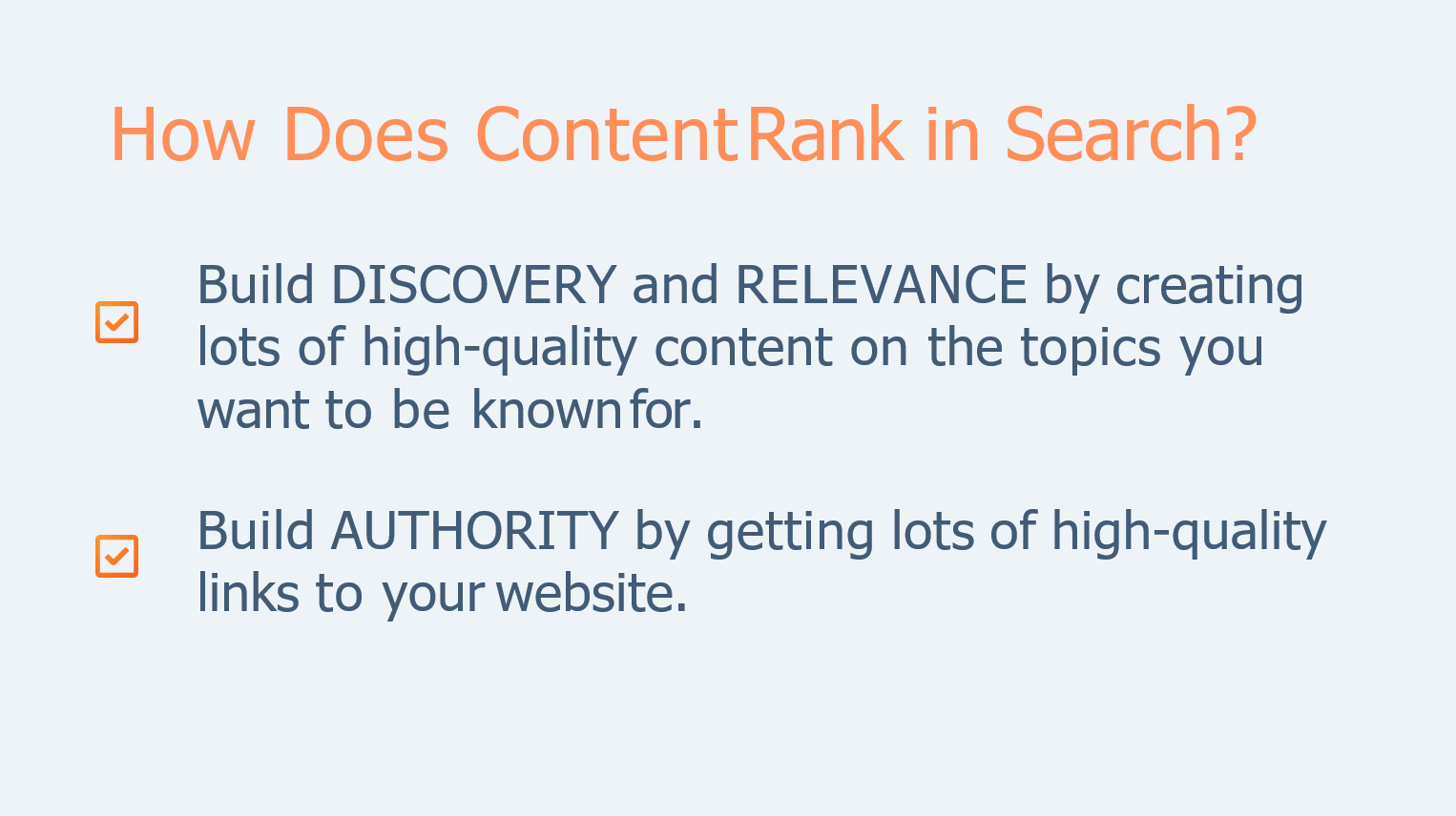 how does google rank content