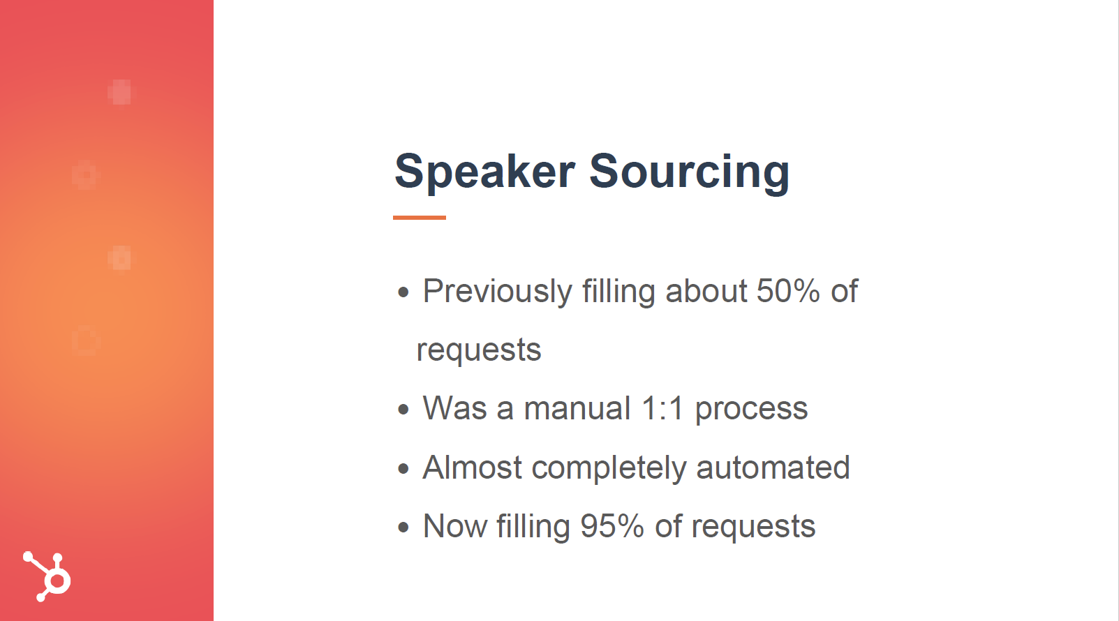 Event speaker sourcing